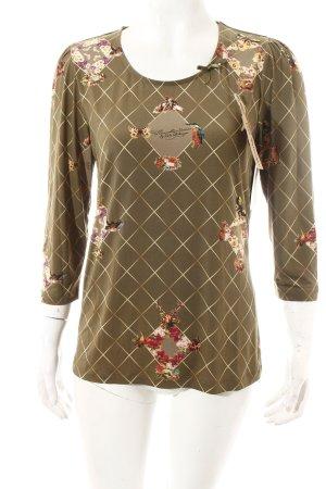 Himmelblau by Lola Paltinger Shirt grasgrün-hellgelb florales Muster