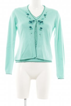 Himmelblau Twin Set tipo suéter turquoise flower pattern casual look