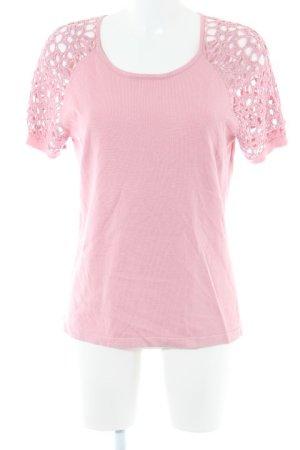 Himmelblau Sweater met korte mouwen roze casual uitstraling