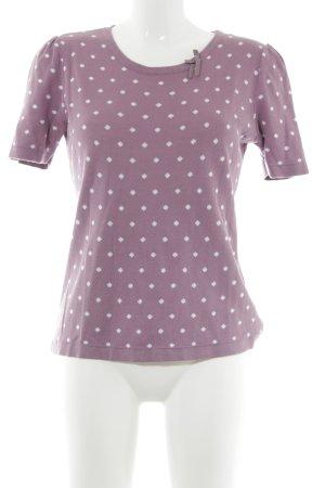 Himmelblau Camisa tejida malva-blanco estampado a lunares estilo rockabilly