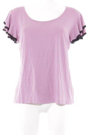 Himmelblau T-Shirt rosa-schwarz Casual-Look