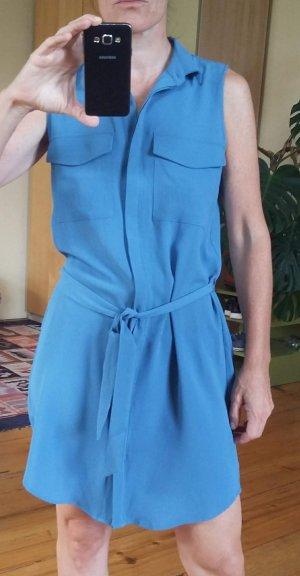 Monki Shirtwaist dress azure-cornflower blue synthetic material