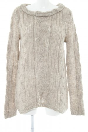 Hindahl & Skudelny Oversized Sweater light brown flecked casual look
