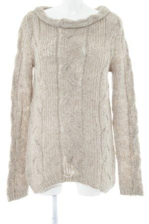 Hindahl & Skudelny Oversized Pullover hellbraun meliert Casual-Look
