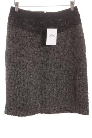 Hindahl & Skudelny Wollrock grau-schwarz Casual-Look