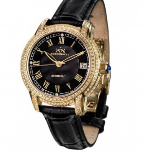 Self-Winding Watch black-gold-colored