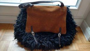 Hingucker: Coole Designer Tasche von Stefanel. Leder, Wildleder und Kunstfaser