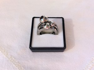 Dyrberg/Kern Statement Ring silver-colored metal