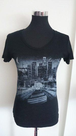 Camiseta estampada negro Poliéster