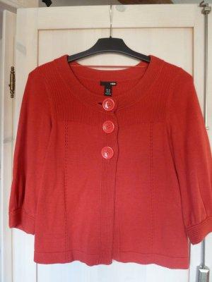 hinreißende rote Baumwoll-Jacke, auch als Blazer zu tragen