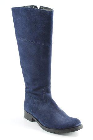 Hip Shoe Style Stivale militare blu scuro stile classico