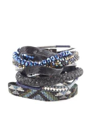 Hipanema Armband schwarz-blau extravaganter Stil
