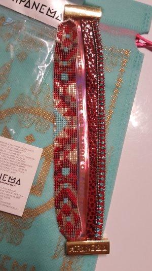 HIPANEMA Armband Gr. L 19 cm rot türkis