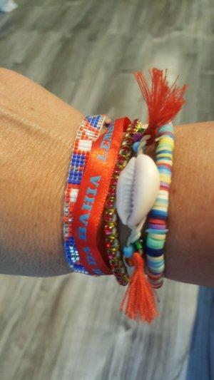 Hipanema Armband wie neu rot blau weiss 18 cm