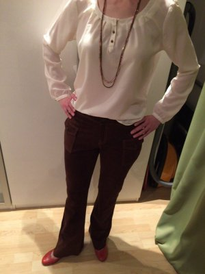 Hippe Wildlederhose, Boho Style, braun, Größe 40