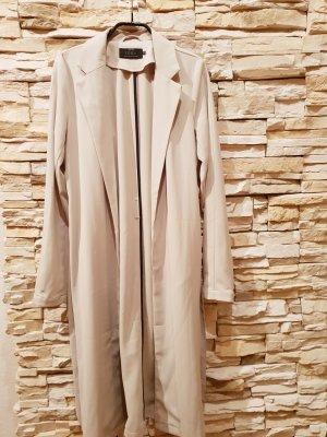 Hipper langer Trenchcoat in hellem beige von Only