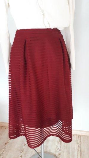 Flared Skirt dark red