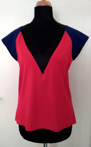hippes Shirt im Color-Blocking-Stil, Unikat!