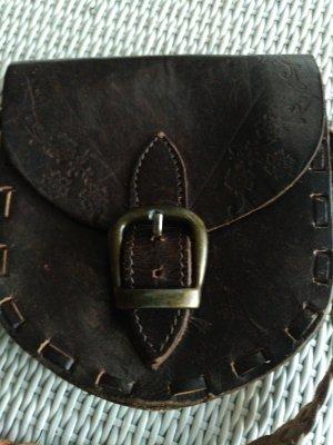 Mini sac brun foncé-cognac