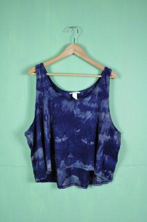 Hippie Bohemian Batik Shirt / Tanktop in Marine und Blau
