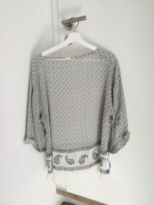 H&M Oversized shirt wit-grijs