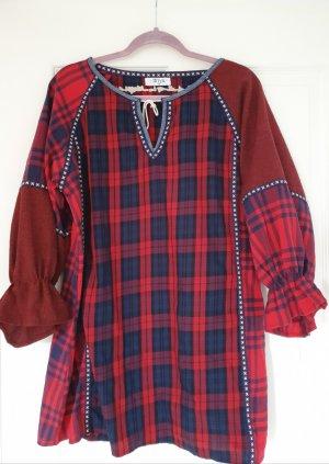 Hippie Boho Bohemian boohoo Tartan kleid Kleid kariert Tunika