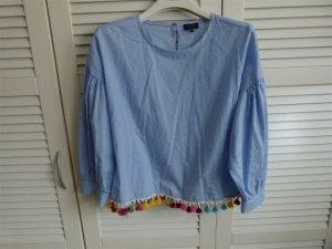 Hippie Boho Folk Bluse von Reserved mit Bommeln