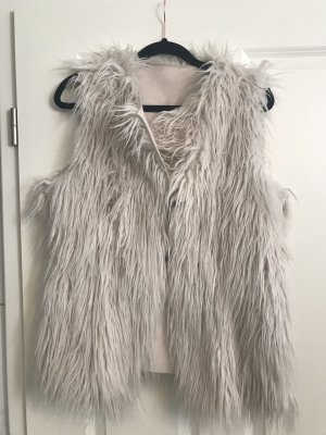 H&M Fake Fur Jacket cream-nude