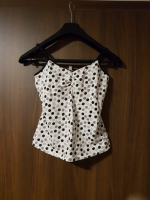 H&M Divided Strappy Top white-black