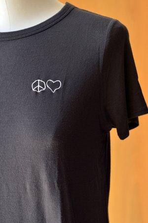 Camisa negro-blanco tejido mezclado