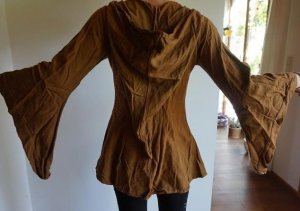 Hooded Coat brown cotton