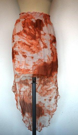 Sisley Jupe en tissu crash rosé-rouille
