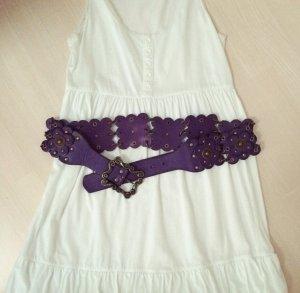 Hippie Gürtel breit / lila Hüftgürtel