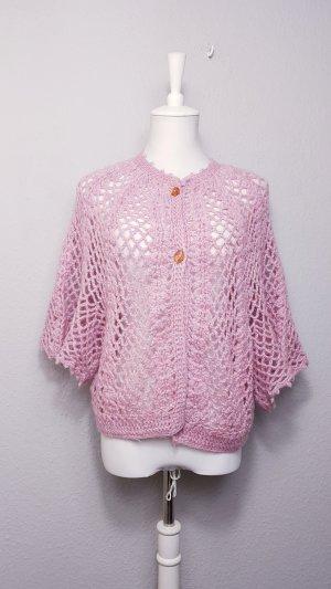 Top en maille crochet rose clair-violet