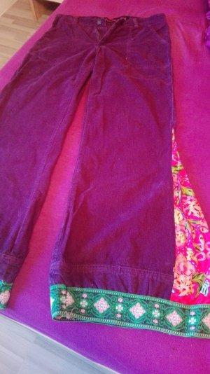 Fishbone Pantalón de campana púrpura