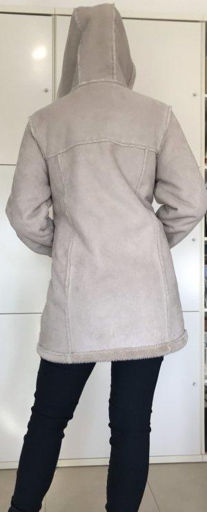 Giacca di pelliccia bianco sporco-crema