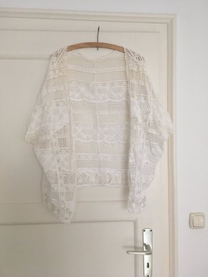 Cardigan all'uncinetto bianco