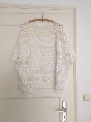 Cardigan en crochet blanc