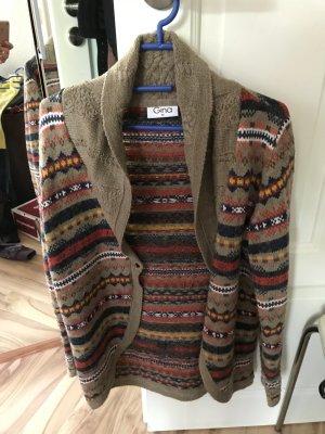 Hippie Jacke von Gina Strickjacke Größe 42 M L Cadigan