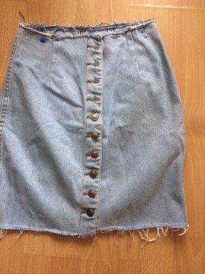 Hippie Jeans Rock mit Knöpfen