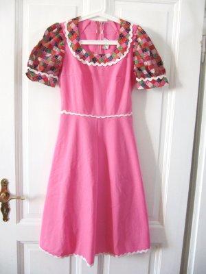 Hippie Kleid 70s Trachten Dirndl Pink