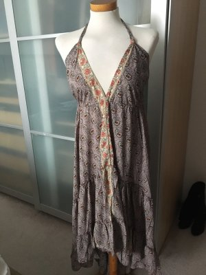 Lara Ethnics Robe Hippie gris lilas-or rose