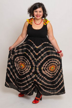 Hippie Kleid mit handgemachte Dekoration