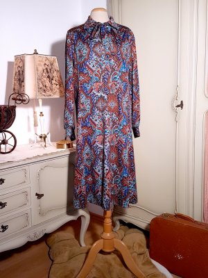 Hippie-Kleid mit Paisley-Print aus den 70ern