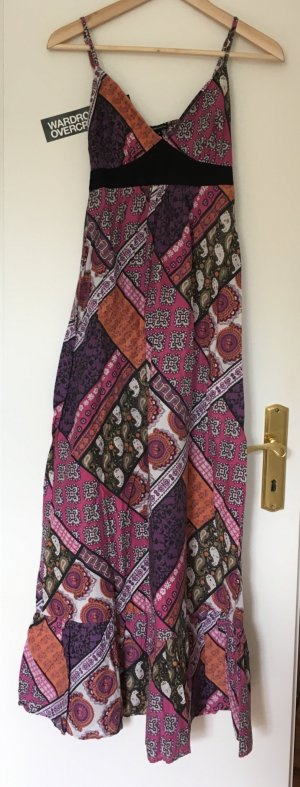 Hippie Maxikleid von 3suisses mit Patchwork Muster in XS/34