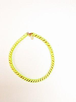 Hippie Neon Gelbe Halskette Blogger