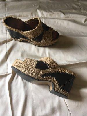 Hippie Plateau Schuhe Vintage 60er 70er