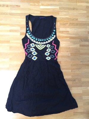 Hippie Pull&Bear Festival Coachella Stickerei Perlen Kleid Blogger XS S 32 34