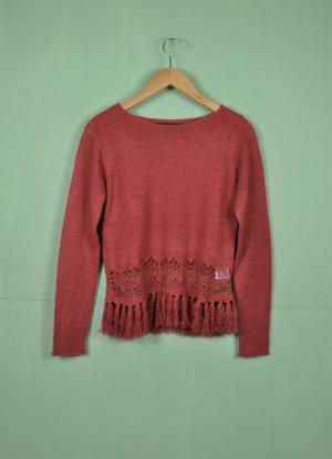 Only Crochet Sweater bright red-red