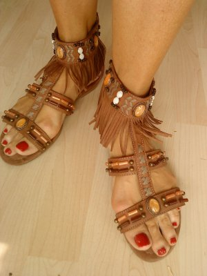 Graceland Roman Sandals multicolored imitation leather